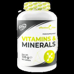6Pak EL Vitaminer og Mineraler 90 kaps